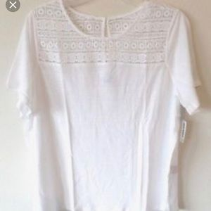 Old navy NWOT white lace blouse